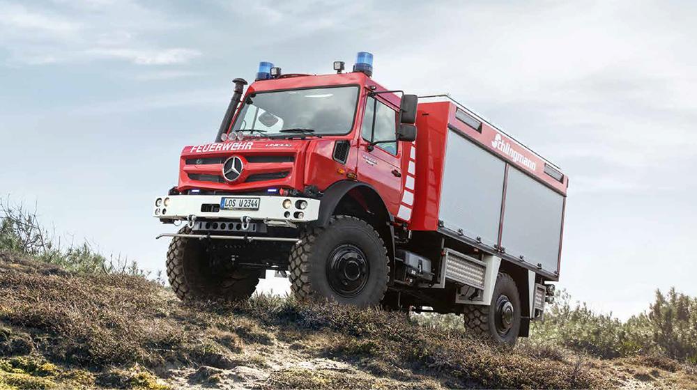 Unimog U5023 for heathland and moorland fires